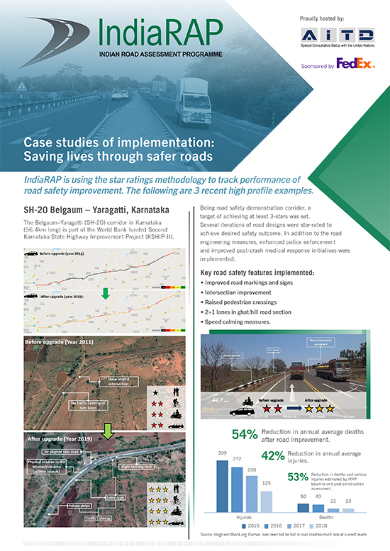 IndiaRAP Case Study of implementation: Saving lives through safer roads